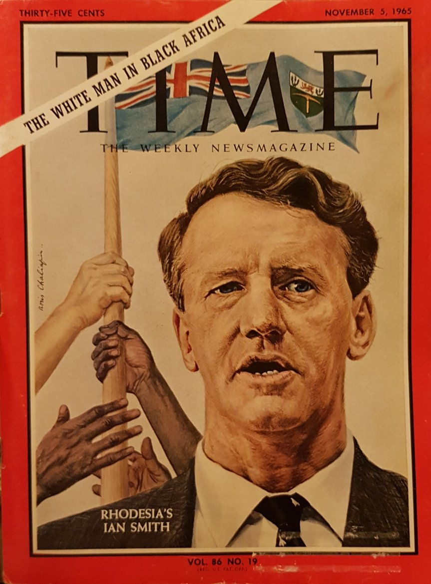 Rhodesia's Ian Smith: Time Magazine, November 5th, 1965. Issue 86. No.19
